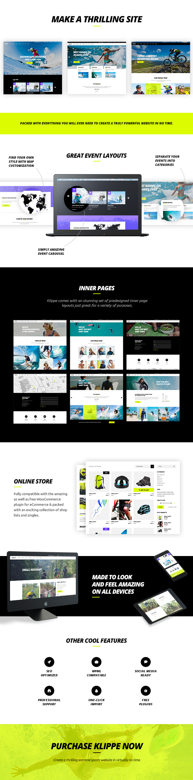 Klippe - Adventure Tours and Extreme Sports Theme - 1